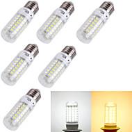 tanie Żarówki LED kukurydza-e14 e26 / e27 doprowadziły światła kukurydzy t 69 smd 5730 240lm ciepłe białe zimno białe 3000k / 6000k dekoracyjne ac 220-240 ac 110-130v