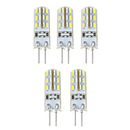 cheap LED Bi-pin Lights-YWXLight® G4 150LM 1.5W 24LED 3014SMD LED Bi-pin Lights Warm White Cool White Led Corn Bulb Chandelier Lamp DC 12V