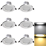 LED Recessed Lights 6 SMD 5730 300lm Warm White Cold White 3000K/6000K Decorative AC 85-265 AC 220-240 AC 110-130V