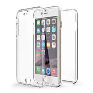 Назначение iPhone X iPhone 8 iPhone 6 iPhone 6 Plus Чехлы панели Защита от удара Прозрачный Чехол Кейс для Сплошной цвет Мягкий