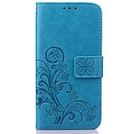 cheap Cases / Covers for Samsung-Case For Samsung Galaxy Samsung Galaxy Case Card Holder Wallet with Stand Flip Embossed Full Body Cases Flower PU Leather for S8 Plus S8