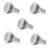 お買い得  LED スポットライト-5pcs 4w gu10 / gu5.3 / e27 / e14 5leds 450-500lm暖かい/涼しい白色光スポットライト(85-265v)