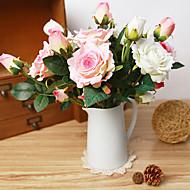 お買い得  -1 ブランチ シルク バラ テーブルトップフラワー 人工花