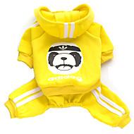 halpa -Kissa Koira Hupparit Haalarit Koiran vaatteet Eläin Harmaa Keltainen Punainen Sininen Pinkki Puuvilla Asu Lemmikit Miesten Naisten Muoti