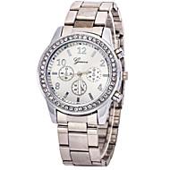 cheap Watch Deals-Women's Quartz Wrist Watch Imitation Diamond Casual Watch Stainless Steel Band Charm Fashion Silver Gold