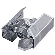 cheap Toys & Hobbies-3D Puzzles Jigsaw Puzzle Metal Puzzles Model Building Kits Fighter 3D Tie Fighter DIY Metal Alloy Metal Birthday Valentine's Day Classic