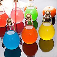 お買い得  世帯の大昇進-創造的な電球のガラス水のボトルポータブルジュースカップ