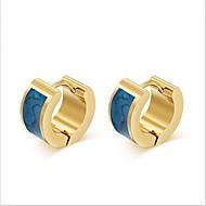 זול -בגדי ריקוד נשים פלדת טיטניום עגילים אופנתי תכשיטים כחול עבור Party יומי קזו'אל