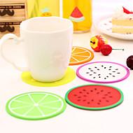 σουβέρ σχήμα φρούτων σιλικόνης Κύπελλο mat τυχαίο χρώμα