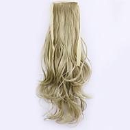 tanie Przedłużanie włosów-Klasyczny Kucyki Wysoka jakość Kawałek włosów Przedłużanie włosów Blonde Codzienny