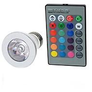 お買い得  LED ボール型電球-100-200 lm E26 / E27 LEDボール型電球 A50 1 LEDビーズ ハイパワーLED リモコン操作 RGB 85-265 V / 1個