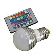 お買い得  LED ボール型電球-1個 3 W 150 lm E26 / E27 LEDスマート電球 1 LEDビーズ ハイパワーLED リモコン操作 / 装飾用 RGB 85-265 V / # / 1個 / RoHs
