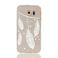 olcso Galaxy S tokok-Mert Samsung Galaxy S7 Edge Átlátszó / Minta Case Hátlap Case Toll Puha TPU S7 edge / S7 / S6 edge / S6