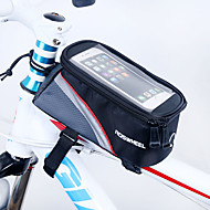 cheap Cycling & Bike Accessories-ROSWHEEL Bike Frame Bag Cell Phone Bag 5.5 inch Waterproof Zipper Wearable Moistureproof Shockproof Touch Screen Cycling for Iphone 8
