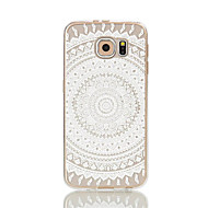 Для Samsung Galaxy S7 Edge Прозрачный / С узором Кейс для Задняя крышка Кейс для Кружевной дизайн Мягкий TPU S7 edge / S7 / S6 edge / S6