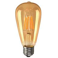 e26 / e27 a condus bulbii globului st64 6 cob 600lm cald alb 2200k decorative decorative ac 110-130v