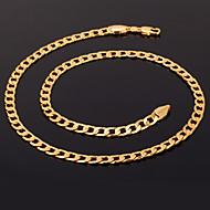 halpa -Naisten Circle Shape Muoto Muoti Kaulaketjut Statement kaulakorut Gold Plated Kaulaketjut Statement kaulakorut Joululahjat Häät Party