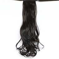 cheap Nails & Hair-Black Length 50CM The New Belt Type Long Curly Wig Horsetail Hair fake Ponytail(Color 99J)