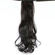 저렴한 -검은 길이 50cm 새로운 벨트 형 긴 곱슬 가발 말꼬리 머리 가짜 포니 테일 (색상 99j)