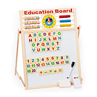 cheap Toys & Hobbies-Multifunctional Magnetic Writing Board, Magnetic Double Wooden Study the Blackboard, Children's Educational Toys