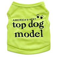 お買い得  -ネコ 犬 Tシャツ 犬用ウェア 花/植物 ローズ グリーン ブルー ピンク テリレン コスチューム ペット用 男性用 女性用 ファッション