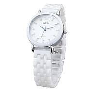 Χαμηλού Κόστους Μοντέρνα Ρολόγια-Γυναικεία Μοδάτο Ρολόι Χαλαζίας Καθημερινό Ρολόι Κεραμικό Μπάντα Λευκή