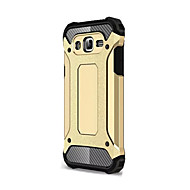 お買い得  携帯電話ケース-ケース 用途 Samsung Galaxy Samsung Galaxy ケース 耐衝撃 バックカバー 鎧 ソフト シリコーン のために J7 (2016) J7 J5 J1 Mini J1 (2016) Grand Prime C5