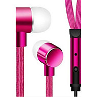 cheap Headsets & Headphones-In Ear Wired Headphones Aluminum Alloy Mobile Phone Earphone with Volume Control Headset