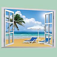 풍경 벽 스티커 플레인 월스티커 데코레이티브 월 스티커,PVC 자료 이동가능 홈 장식 벽 데칼
