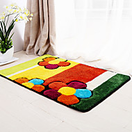 Country Style Polypropylene Bath Mats Floral Pattern