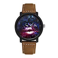 Hombre Reloj de Moda Cuarzo Reloj Casual Aleación Banda Encanto Negro Marrón Negro Marrón