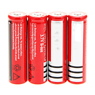 cheap -18650 Battery Rechargeable Lithium-ion Battery 4200.0 mAh 4pcs Rechargeable for Camping/Hiking/Caving