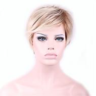 Недорогие Парики-Искусственные волосы парики Прямой Естественные прямые Волосы с окрашиванием омбре Без шапочки-основы Карнавальный парик Парик для