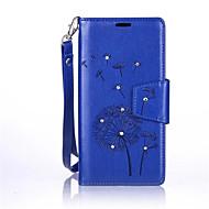 Для Samsung Galaxy S7 Edge Бумажник для карт / Кошелек / Стразы / со стендом / Флип / Рельефный Кейс для Чехол Кейс для Одуванчик Твердый