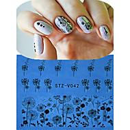 abordables Maquillaje y manicura-1 pcs Etiqueta de encaje / Joyería de uñas / Puntas Completas de Uña Flor / Dibujos / Boda Encantador Diario