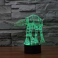 billige -1 stk 3D natlys Dæmpbar Usb Mangefarvet Plast 1 Lampe Ingen Batterier Inkluderet 23.0*17.0*5.0cm