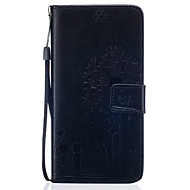 cheap Cases / Covers for Samsung-Case For Samsung Galaxy Samsung Galaxy S7 Edge Card Holder Wallet with Stand Flip Embossed Full Body Cases Dandelion Soft PU Leather for