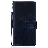 Для Samsung Galaxy S7 Edge Кошелек / Бумажник для карт / со стендом / Флип / Рельефный Кейс для Чехол Кейс для Одуванчик Мягкий