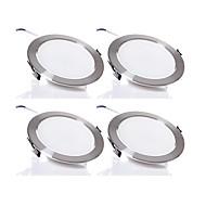 5W LED-neerstralers 480 lm Warm wit / Koel wit SMD 5730 Dimbaar AC 220-240 V 4 stuks