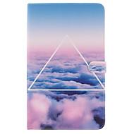 Для Кейс для  Samsung Galaxy Бумажник для карт / Кошелек / со стендом / Флип / С узором Кейс для Чехол Кейс для Пейзаж Мягкий