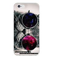 Недорогие Кейсы для iPhone-кошка с очками шаблон TPU мягкий чехол назад для iphone 6с 6 плюс