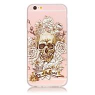 Für iPhone 6 Hülle / iPhone 6 Plus Hülle Im Dunkeln leuchtend Hülle Rückseitenabdeckung Hülle Totenkopf Weich TPU AppleiPhone 6s Plus/6
