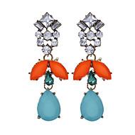 Vintage Modieus Luxe Sieraden Europees Hars Strass imitatie Diamond Legering Geometrische vorm Regenboog Sieraden VoorFeest Dagelijks