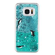 Для Samsung Galaxy S7 Edge Движущаяся жидкость / Прозрачный / С узором Кейс для Задняя крышка Кейс для Животный принт Твердый PC Samsung