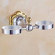 お買い得  浴室用小物-歯ブラシホルダー コンテンポラリー 真鍮 1枚 - ホテルバス