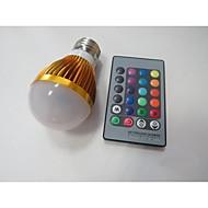 3W E26/E27 LED-älyvalot A60(A19) 1 Teho-LED 100-230 lm RGB Sensori AC 85-265 V 1 kpl