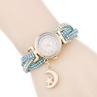 voordelige Modieuze horloges-Dames Modieus horloge Armbandhorloge Kwarts / PU Band Vrijetijdsschoenen Elegante horloges Zwart Wit Rood Roze BronsKoffie Rood Blauw