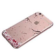Недорогие Кейсы для iPhone 8 Plus-Кейс для Назначение Apple iPhone 8 iPhone 8 Plus iPhone 6 iPhone 6 Plus Прозрачный Кейс на заднюю панель Цветы Мягкий ТПУ для iPhone 8