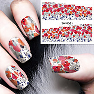 cheap Makeup & Nail Care-Fashion Printing Pattern Water Transfer Printing Gouache Flower Nail Stickers