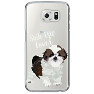 tanie Galaxy S5 Etui / Pokrowce-Na Samsung Galaxy S7 Edge Ultra cienkie / Półprzezroczyste Kılıf Etui na tył Kılıf Pies Miękkie TPU SamsungS7 edge / S7 / S6 edge plus /
